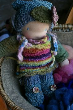 handspun knitted clothing - a waldorf doll by tilly tilda - | Flickr - Photo Sharing!