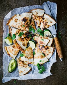Portobello and Avocado Quesadillas with Magic Green Sauce Recipe - PureWow Dinners To Make, Easy Family Dinners, Dinners For Kids, Weeknight Dinners, Healthy Dinners, Toddler Dinners, Toddler Lunches, Tortillas, Portobello