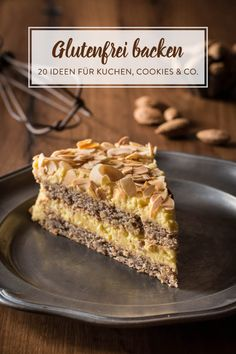 Swedish almond cake to melt away - small culinary .- Schwedische Mandeltorte zum Dahinschmelzen – Kleines Kulinarium This Swedish almond cake is to melt away. The almond base with a delicious cream and a hint of amaretto is a sin - Baking Recipes, Cookie Recipes, Dessert Recipes, Baking Ideas, Law Carb, Patisserie Sans Gluten, Sweets Cake, Almond Cakes, Food Cakes