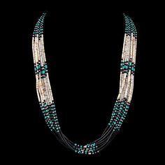 Tri-color Heishi Necklace by Janice Tenorio   Traditional Native American   Santo Domingo Pueblo (Ke-Wa)   Jewelry, Necklace   wrightsgallery.com