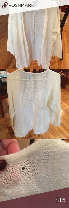 Lightweight Cardigan Minimally worn. Very small pull as u can see in picture at top near back of neck. Its not a full sleeve but its longer than a 3/4 Wet Seal Sweaters Cardigans