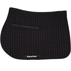 The Back on Track Saddle Pad creates soothing thermal heat. Fabric is interwoven with a polypropylene/polyester thread embedded with a fine ceramic powder that effectively warms-up horse prior to performing and can also help accelerate recovery rate from strenuous exercise. Relieves pain and inflammation, reduces tension in muscles, increases blood circulation and speeds up healing.
