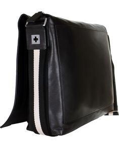 BALLY Triar-MD Messenger Bag Black hos CareOfCarl.com