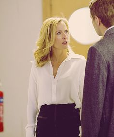 Gillian Anderson's silk blouses in The Fall are everything.