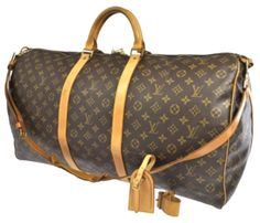 Save on the Louis Vuitton Keepall Bandouliere 60 Cabin Size Carry On Luggage  Monogram Canvas and Leather Weekend Travel Bag! This travel bag is a top 10  ... f1f02d5ef9458