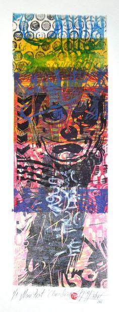 "Saatchi Art Artist Tezcan Bahar; Printmaking, ""Clown Series - 1 - Limited Edition 1 of 1"" #art"