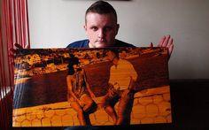 .Wood photo. Klejonka sosnowa rozmiar 80 na 120 cm. Całość lakierowana. Info: www.fotodecha.pl