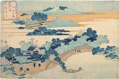 Katsushika Hokusai (1760-1849): Eight Views of Ryukyu: Bamboo Grove of Sanson, woodblock print, ca. 1832. SOLD.