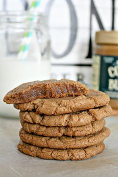 best ever biscoff, brown butter, brown sugar cookies; chewiest and most delicious cookies you will ever