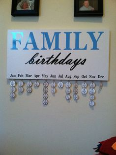 Family Birthday Reminder Calendar Handmade Wall Hanging in Crafts, Handcrafted & Finished Pieces, Home Décor & Accents, Wall Hangings Birthday Calendar Reminder, Family Birthday Calendar, Birthday Reminder, Cute Crafts, Crafts For Kids, Diy Crafts, Creative Crafts, Birthday Board, Birthday Diy