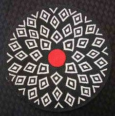 Stunning African Zulu Telephone Wire Basket/Plate LARGE