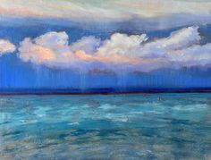 """study for """"Portale n.19""""…dreaming seascape painting by Cristina Sammarco"""
