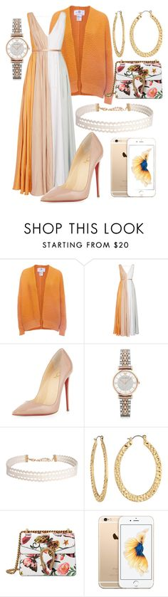 """""""Garden+Orange"""" by hannahgrinton on Polyvore featuring Wool and the Gang, Raoul, Christian Louboutin, Emporio Armani, Humble Chic, Fragments and Gucci"""
