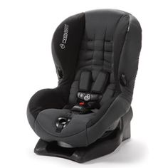 Maxi-Cosi Priori Toddler Carseat.  Works like a dream...reclines so children can get in a good nap while traveling.  Super safe, too!
