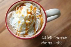 Salted Caramel Mocha Latte recipe. This seems easy enough to make. I just need to get a French press.
