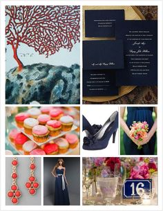 coral and navy - our colors!