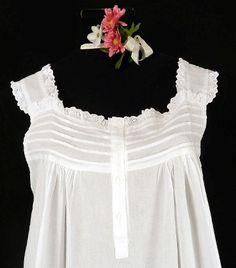 756b94b07c 291-48 PIntuck Eyelet-sleeveless 100% cotton nightgown