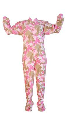 Infant   Toddler Pink Camouflage Fleece Onesie Footed Pajamas e5fa94509