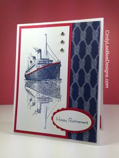 May 1, 2015 Cindy Lee Bee Designs: Stampin' Up! Traveler using Reflection Technique  Sea Street DSP