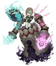 View an image titled 'Gretel, Half-Nightmare Job Art' in our SINoALICE art gallery featuring official character designs, concept art, and promo pictures. Female Character Design, Character Design Inspiration, Game Character, Character Concept, Concept Art, 3d Fantasy, Fantasy Girl, Dark Fantasy, Manga Characters
