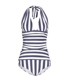 Navy Dolce & gabbana  swimsuit  for woman Navy And White Striped Swimsuit By Dolce & Gabbana #bathingsuit