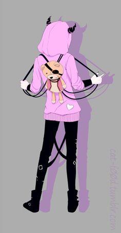 Kanato Sakamaki. Anime. Manga. Video Game. Vampire. Diabolik Lovers. Heart. Hoodie. Punk. Pastel. Pastel Goth. Teddy.