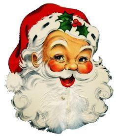 vintage santa christmas cards - Google Search