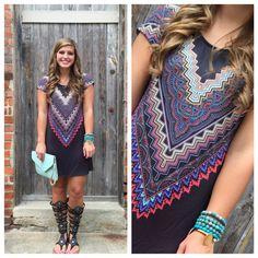 The Cece Aztec T-Shirt Dress – Merchant31