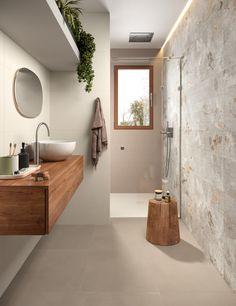 MODERNÉ KÚPEĽNE - Trendové obklady do kúpeľne / BENEVA 3d Wall Tiles, Room Tiles, Le Belem, Italian Bathroom, Bathroom Design Inspiration, Bathroom Tile Designs, Wall Colors, Tile Floor, Flooring