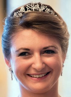 Hereditary Grand Duchess Stéphanie of Luxembourg's Butterfly Tiara