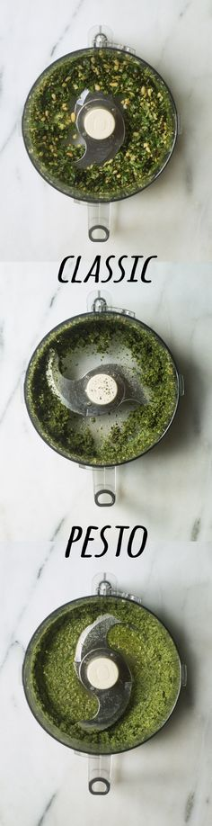 classic pesto 2 ways- you won't be able to taste the difference Recipe Type, Strawberry Summer, Granola Bars, Types Of Food, Light Recipes, Pesto, A Food, Food Processor Recipes, Vegetables