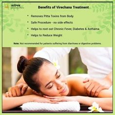 Virechana or purgation therapy facilitates the elimination of vitiated Pitta from the body. Get the best panchakarma treatments in Jaipur Arogyam Panchakarma. For appointments, contact us at - 9667950575