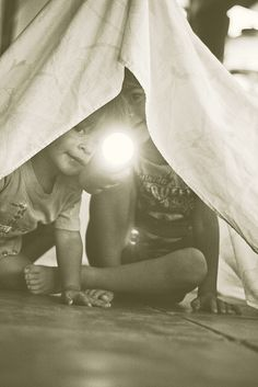 Who didn't love making secret forts out of things like blankets and couch cushions? I loved that as a kid. In fact, there are days when I would still like to go make one and hideaway in my secret fort. ;-)