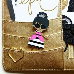 Fashionista Girl Paper Clip // Planner Clip // by CuteByDesignCo
