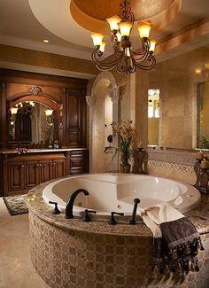 Master bath.  Love this tile on the tub