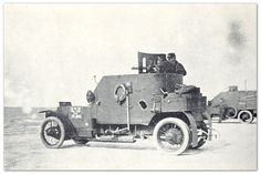 WW1 Minerva armored car, built at Billancourt, France.  37 mm cannon or 2 x Hotchkiss machine guns.  Crew of 3 or 4.  Armor plating 7 mm thick.
