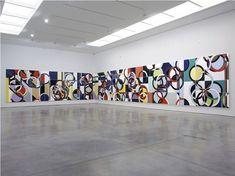 Sarah Morris Painting Lesser Panda White Cube Installation