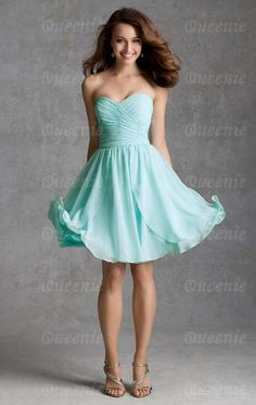 7a8997eac4 2015 Bridesmaid Dresses A Line Sweetheart Above Knee Length Chiffon Ruffled  Bodice Blue Wedding Dresses