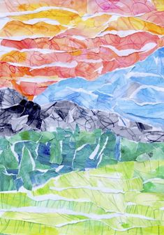 49 Ideas Landscape Art For Kids Mixed Media For 2019 Collage Landscape, Landscape Artwork, Landscape Drawings, Cool Landscapes, Surreal Collage, Collages, Landscape Design, Craft Projects For Kids, Art Projects