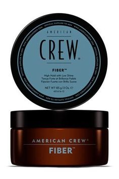 American Crew Fiber  3.0 oz--High hold with low shine. Fiber-like, resinous product helps thicken, texturize and increase fullness to hair. Provides a strong, pliable hold with a matte finish. Works well in shorter hair, 1-3 inches in length.