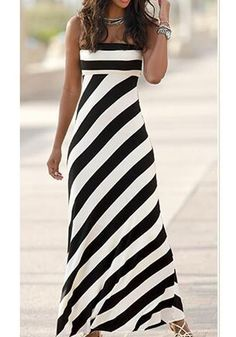 black maxi dress Buy Black-White Striped Bandeau Open Back Off Shoulder High Waisted Beach Maxi Dress online with cheap prices and discover fashion Maxi Dresses,Cheap Dresses,Dresses,D Cheap Maxi Dresses, Beautiful Maxi Dresses, Beautiful Outfits, Summer Dresses, Dresses Dresses, Black Floral Maxi Dress, Black Dress Outfits, Striped Maxi Dresses, Black Maxi