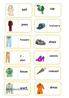 clothes domino worksheet - Free ESL printable worksheets made by teachers