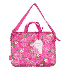 Lilly Pulitzer Laptop Tote with Shoulder Strap - May Flowers $34