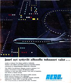Finnair Aero o/y Good Old Times, Teenage Years, Old Toys, Caravan, Finland, Afro, Nostalgia, Illustration Art, Old Things