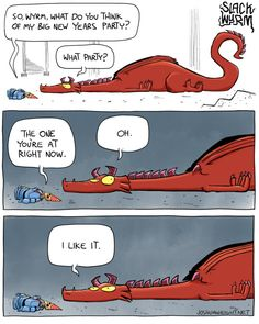 Slack Wyrm by Joshua Wright: Awesome comic with cool rpg / fantasy themes and great jokes!