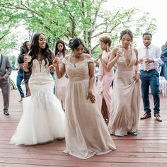 The best part of being a bridesmaid is the fun dance-all-night-long responsibility, and we are here for you! 💙 Our bridesmaid dresses were designed with you & your dance moves in mind. We've created styles to flatter every body, pricing to cater to any budget, and colors to fit every palette! We can't wait to see Kennedy Blue on YOU! 💫   bridal party ideas   plus size bridesmaid dresses   neutral wedding   reception ideas   latte colored bridesmaid dresses from Kennedy Blue Neutral Bridesmaid Dresses, Bridesmaids, Wedding Dresses, Reception Ideas, Wedding Reception, Dance Moves, Wedding Pictures, Real Weddings, Latte