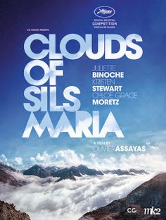 """Hollywood News: Poster de """"Clouds of Sils Maria"""" com a logo de Cannes"""