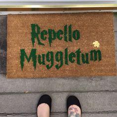 Any Harry Potter fans out there? We'd love to create a custom mat for you! Fall Doormat, Custom Mats, Doormats, Craft Projects, Harry Potter, Fans, Create, Diy, Design