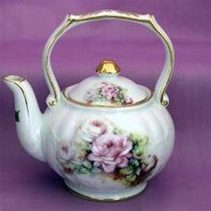 Victorian Tea Pots And Cups   Victorian 1 Cup Teapot - 48 Floral Patterns - Fielder Keepsakes