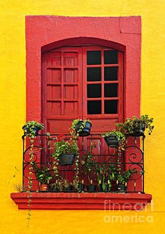 #Mexican house window